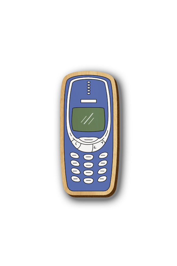 Nokia 3310 - Hand-painted Wooden Pin