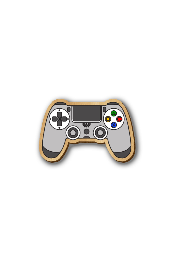 Play Station Game Console - HandPainted Wooden Pin