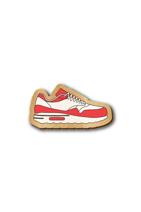 Running Shoes - Hand-painted Wooden Pin