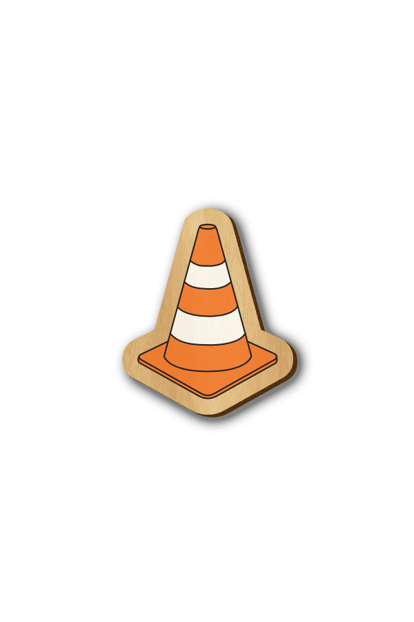 VLC Media Player - Hand-painted Wooden Pin