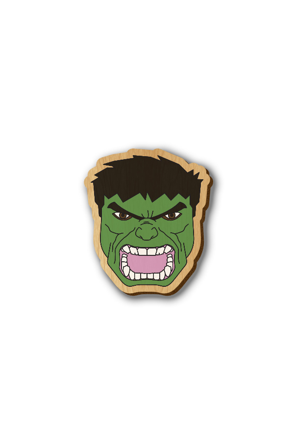 The Hulk - Hand-painted Wooden Pin