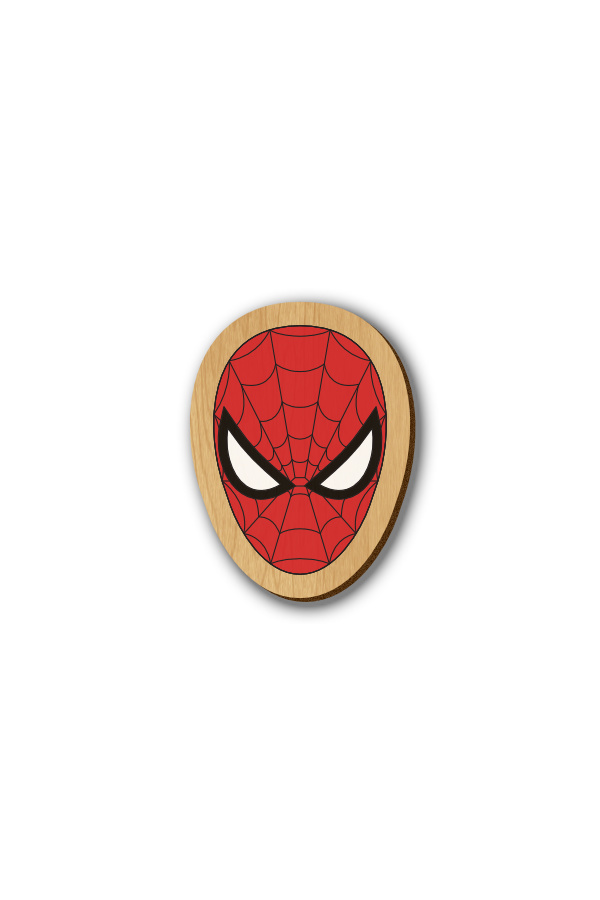 Spiderman - Hand-painted Wooden Pin