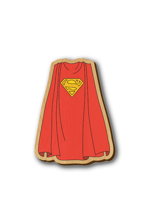 Superman Cape - Hand-painted Wooden Pin