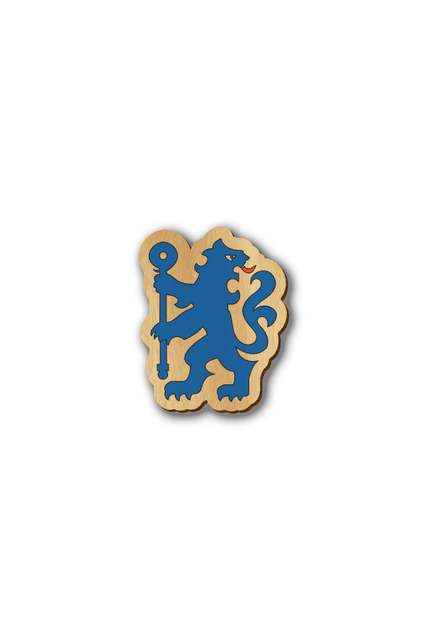 Chelsea Logo - Hand-painted Wooden Pin