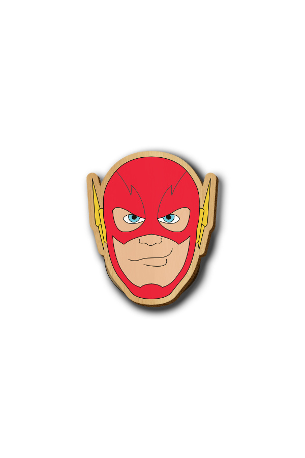 Flash - Hand-painted Wooden Pin