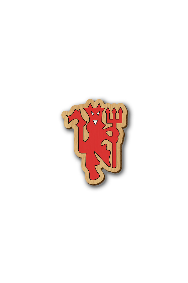 Manchester United Logo - Hand-painted Wooden Pin