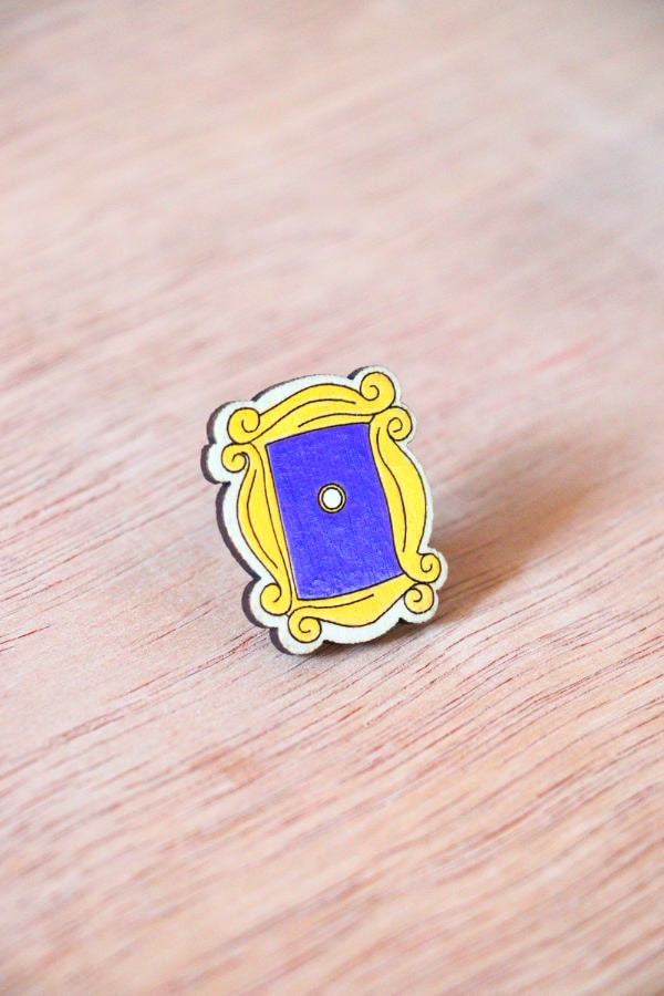 Friends Mirror - Hand-painted Wooden Lapel Pin