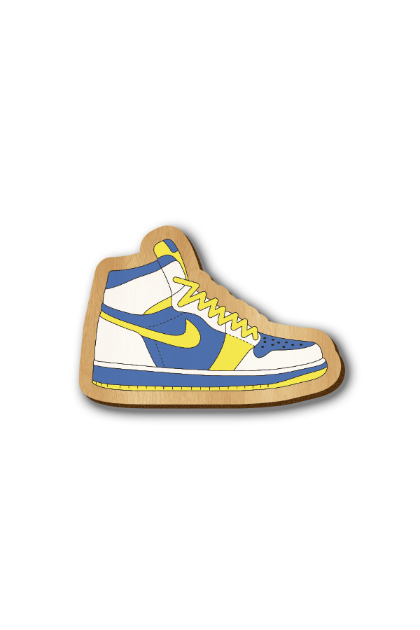 Nike Sneakers - Hand-painted Wooden Lapel Pin