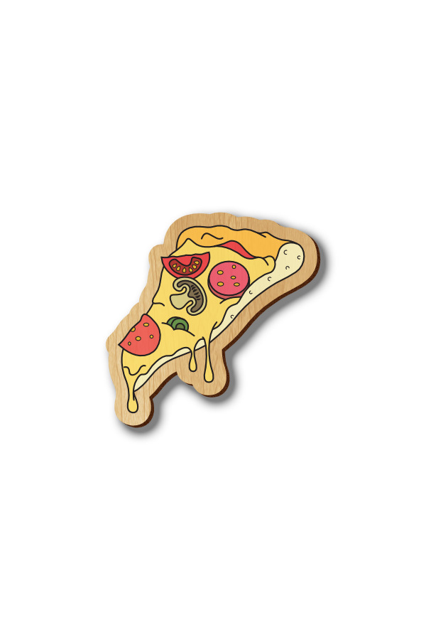 Pizza - Hand-painted Wood