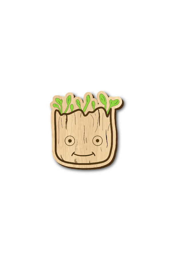 Baby Groot - Hand Painted Wooden Lapel Pin
