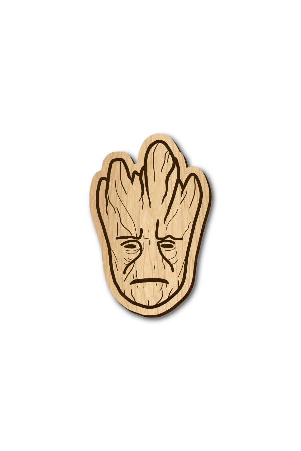 Groot - Hand Painted Wooden Lapel Pin