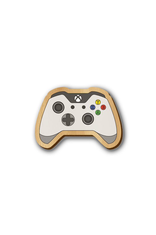 X Box Controller - Hand Painted Wooden Lapel Pin