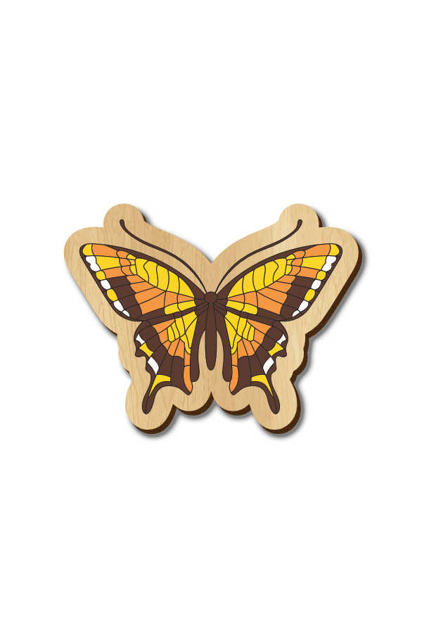 Butterfly 1 - Hand Painted Wooden Lapel Pin