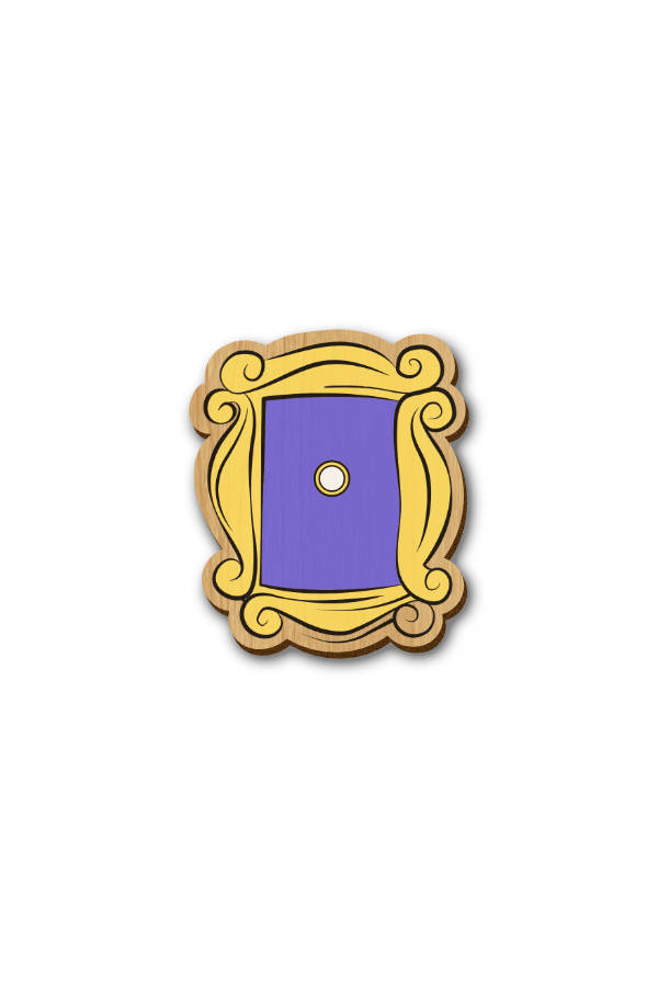 Friends Mirror - Hand Painted Wooden Lapel Pin